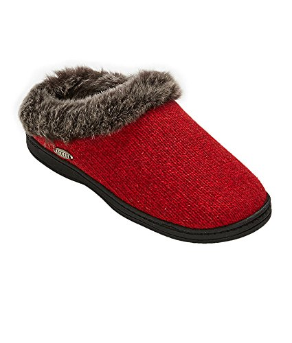 Ghianda Mens Digby Gore Mulo Pantofola Rosso