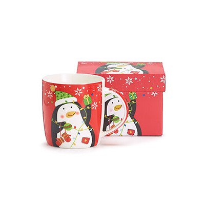Christmas Holiday Red Penguin Mug Gift Boxed ()
