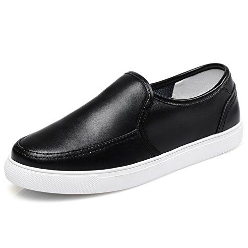 Primavera Le Fu, Zapatos De Suela Gruesa,Zapatos Femeninos De Corea Flat-bottom,Zapatos De Cuero Versátil,Los Zapatos De Las Mujeres B