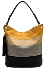 JOYISM provides casual, stylish, practical and environmental protection handbag for Global women. It makes you feel good and durable. This handbag has enough capacity to provide enough space for your tablet and small laptop. The bag has vario...