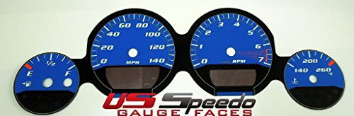 US Speedo MAG064 - Daytona Edition Gauge Faces - Blue / Blue Night - 140 MPH - for: Dodge Mag / Charg / Challenger Base