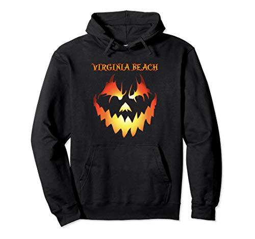 Virginia Beach Jack O' Lantern Pumpkin Halloween Hoodie