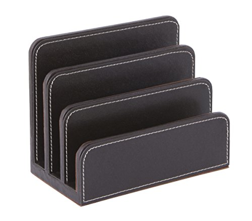 (Osco Faux Leather Letter Holder - Brown)