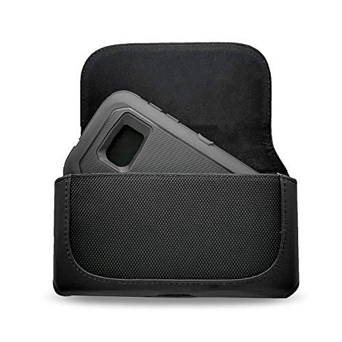 Stylus Nokia Phone (for LG G7 ThinQ/LG V35 ThinQ/LG Q Stylus/LG Stylo 4/Motorola Moto Z3 Play/Asus ROG Phone/Nokia 5.1/2.1/OnePlus 6 case, Kiki Premium PU Leather Pouch Case Belt Clip Holster (5.7 inch))
