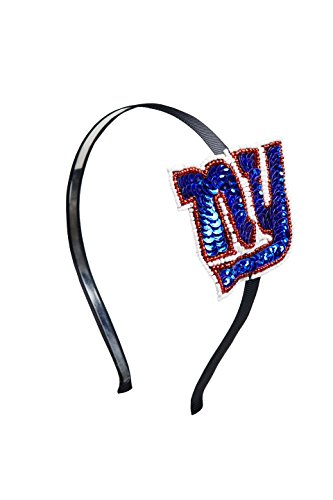 NFL New York Giants The Grace Collection Sequins and Beads Horseshoe Hairband, 6 x 5 x 2.25-Inch, Blue