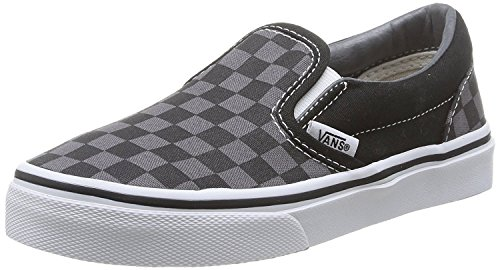 Vans Kids Classic Slip-On (Checkerboard) Skate Shoe (11.5 M US Little Kid, Checkerboard/Pewter)