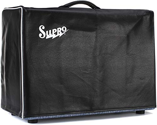 Supro Black Vinyl Amp Cover w/Logo - 1x12