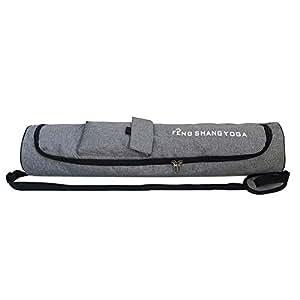 Broadroot Fashion Women Men Portable Yoga Mat Bag Carrier Shoulder Sport Bags (Grey)