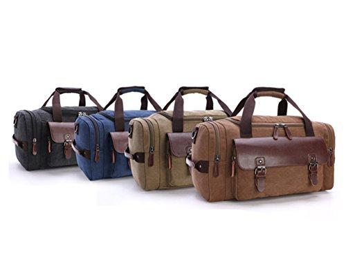 Aidonger Unisex Vintage Canvas Duffel Bags Casual Handbags