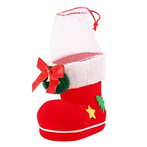 Decorative Candy - Christmas Stockings Candy Boots Gift Box Xmas Santa Claus Flocking Decorative Home Decoration 2019 - Bowl Lids Scoops Cakes Supplies Holder Molds Balls Containers Bins Dish ()