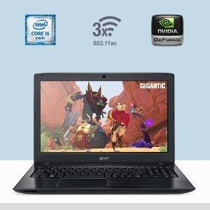 Acer Aspire E5 15.6' Full HD 1920x1080 Gaming Laptop, Intel Core i5-6200U 2.3GHz, 8GB DDR5 RAM, 256GB SSD, NVIDIA GeForce 940MX 2GB, 12-hours Battery Life, 802.11ac WiFi, Windows 10, Black