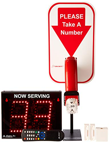 Alzatex 2-Digit Take a Number System with Free Ticket roll ()