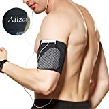 Ailzos Sports Running Armband, Cell Phone Armband Exercise Arm Holder for Running, Fitness and Gym Workouts Phone Armband Sleeve Fits iPhone X/8/7 Plus/7/6,Samsung Galaxy S9/S8/S7,Sony,LG HTC, Black,L
