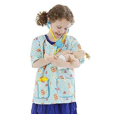 Melissa & Doug Pediatric Nurse Role Play Costume Set (8 pcs) - Includes Baby Doll, Stethoscope: Melissa & Doug: Toys & Games
