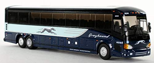 - Greyhound MCI D4505 diecast Model Bus Destination Atlantic City 1:87 Scale-HO Scale Iconic Replicas