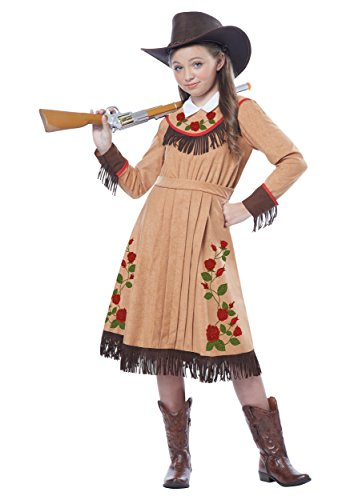 [California Costumes Cowgirl/Annie Oakley Girl Costume, One Color, Medium] (Annie Costumes For Kids)