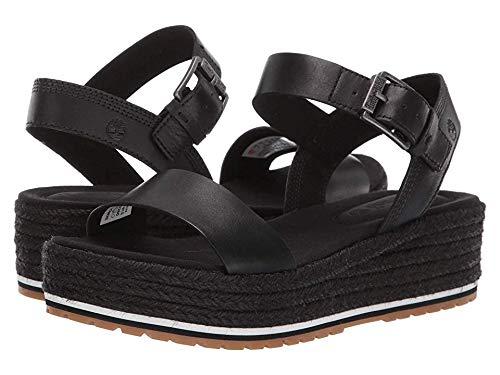 Timberland Women's Santorini Sun Ankle Strap Sandal Black Full Grain 9 B US
