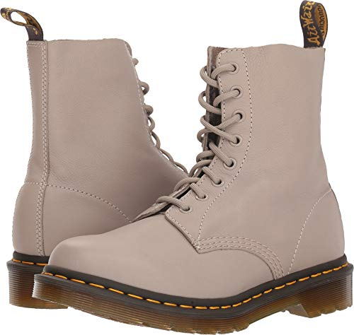 (Dr. Martens Women's 1460 Pascal Mid Calf Boot, Taupe, 8 M UK (10 US))