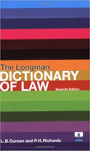 longman law dictionary 7th edition paperback