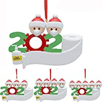 2020 Snow Family Santa Christmas Home Party Hanging Ornaments Decorations Gifts (1, 2 Family Members)