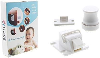eligite magnético cierre de seguridad sistema – Pack de 4 Cerraduras + 1 llave – que familia con cerradura de fácil de instalar – niño, niños y bebé Prueba Invisible interior Lock