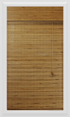 Calyx Interiors Bamboo Roman Shade, 26-Inch Width by 54-Inch Height, Dali (Bamboo Window Treatments)
