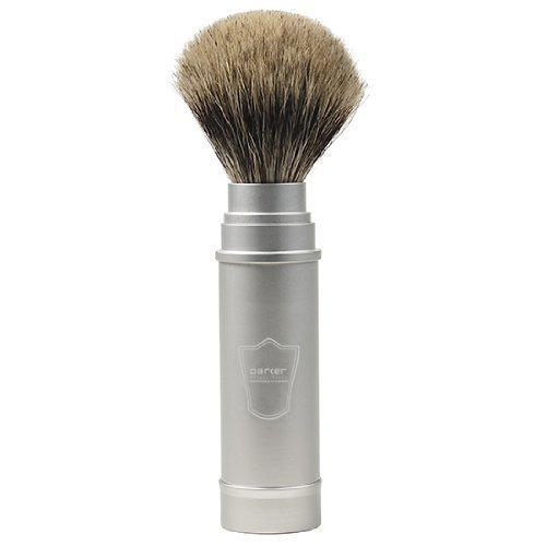 Parker Safety Razor Full Size Pure Badger Hair Collapsible Travel Shaving Brush