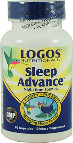 Logos Nutritionals - Sleep Advance - 60 Count - Natural Herb Sleep Aid with Melatonin-GABA-5HTP-L Theanine - Stress and Muscle Relaxing Formula