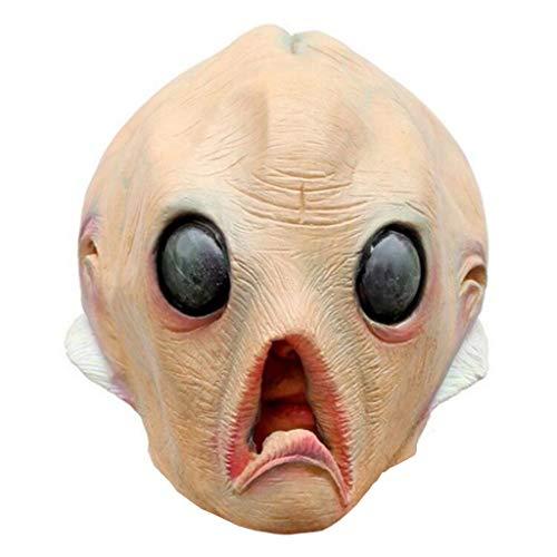 Horror Alien Brain Mask Halloween Big Eye Latex Mask Creepy Disgusting Eyeball Masquerade Party Makeup Adult Child -
