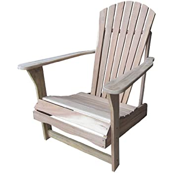 this item solid acacia teak adirondack chair ottoman foot rest natural unfinished