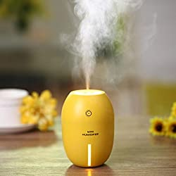 Leoy88 Mini USB Humidifier Air Purifier Steam Diffuser Mist Office Room Portable for Car (Yellow)