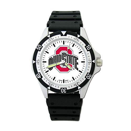 Collegiate Ohio State University OHIO STATE UNIV OPTION SPORT WATCH WITH PU RUBBER STRAP ()