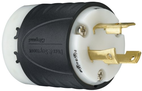 mour L630PCCV3 Industrial Specification Grade Turn Lock Plug, 30-Amp 250-volt Two Pole 3 Wire (Pass & Seymour Locks)