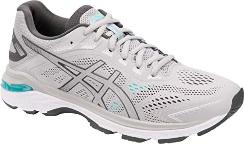 - ASICS GT-2000 7 Women's Running Shoe, Mid Grey/Dark Grey, 7 M US