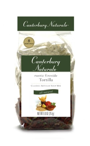 Rustic Tomato Soup (Canterbury Naturals Rustic Fireside Tortilla Classic Artisan Soup Mix, 9.0-Ounce Bags (Pack of 6))