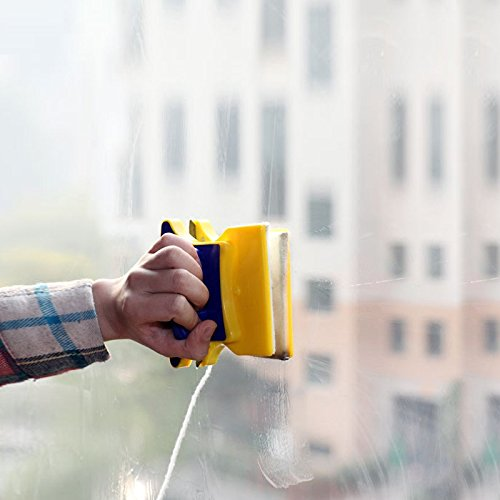 New Practical Magnetic Window Cleaner Glass Double Side Cleaner Wiper Brush Rubber Scraper Cleaning Tool Useful Surface Brush