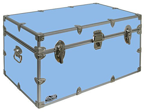 College Dorm Room & Summer Camp Lockable Trunk Footlocker with Wheels - Undergrad Trunk by C&N Footlockers - Available in 20 colors - Large: 32 x 18 x 16.5 Inches by C&N Footlockers (Image #2)