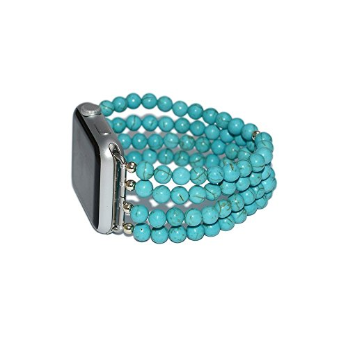 Turquoise Apple Watch Strap / Apple Watch Band 42mm, iWatch Strap, iWatch Band 38mm, Lugs Adapter Accessories, No-clasp, Stretch Fit