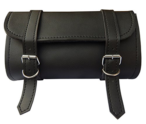 ARD CHAMPS Motorcycle Tool Bag Handlebar Saddle Bag PU Leather Storage Tool Pouch 2 Strap Closure by ARD CHAMPS (Image #1)