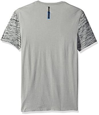 Calvin Klein Jeans Men's Space Dye Ck Logo Print Crew Neck T-Shirt