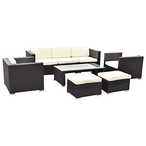 Tangkula Furniture Cushioned Sectional Coversation Basic Info