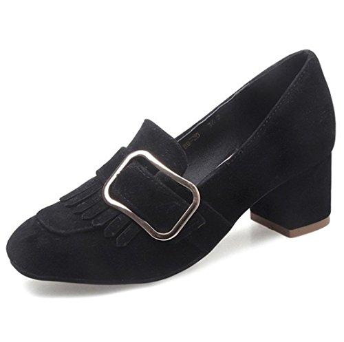 Calzado Mujer de blackB Zapatos Alto Señora de Sandalette Tacón DEDE de fxHw55