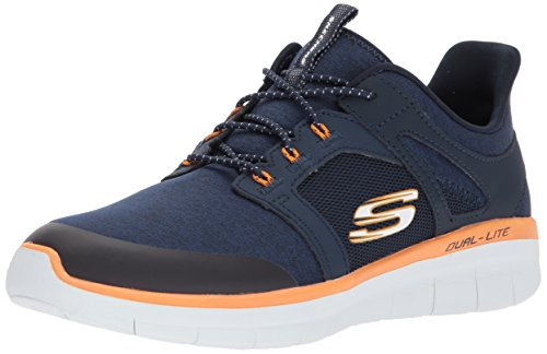 2 De Mens Synergie Chekwa Enfilable Navy 0 Trainer Orange Skechers RBaYIw