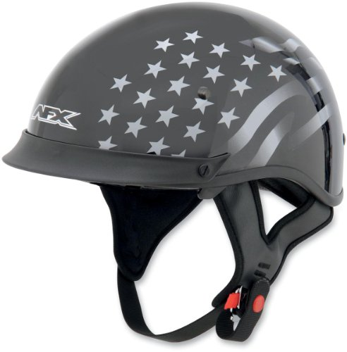 AFX FX-72 Stealth Helmet with Single Inner Lens , Size: Sm, Primary Color: Black, Distinct Name: Flat Black Stealth, Helmet Category: Street, Helmet Type: Half Helmets, Gender: Mens/Unisex 0103-0818 Afx Street Helmet