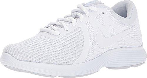 Nike Women's Revolution 4 White/White Pure Platinum Running Shoe