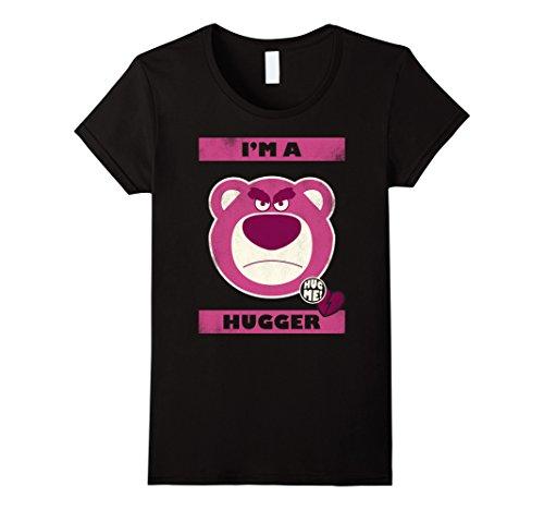 Hugger Black T-shirt (Womens Disney Toy Story Hugger Lotso Bear Graphic T-Shirt XL Black)
