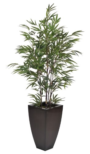 Artificial 5-foot Black Bamboo in Dark Copper Zinc by House of Silk Flowers