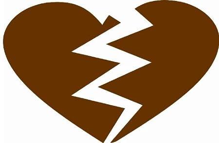 Pared Adhesivo – Color Corazón roto, marrón, ca. 33,48 x 22,10cm ...