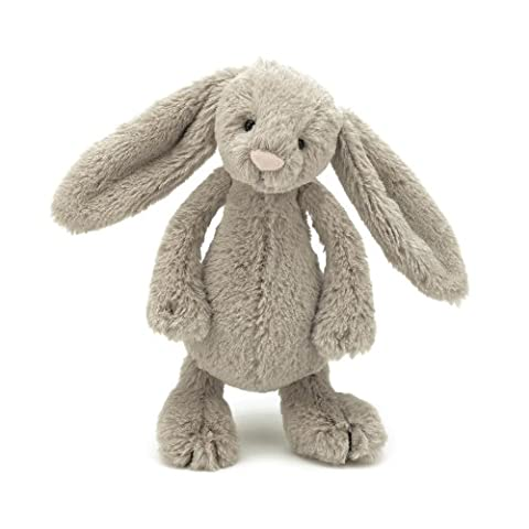 Jellycat Bashful Beige Bunny, Small, 7 inches - Bunny Rabbit Toy