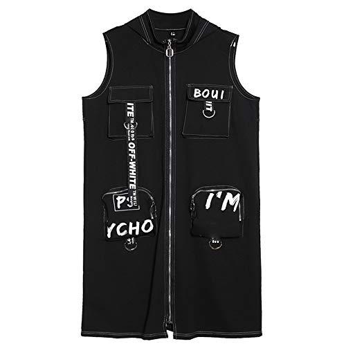 Grande Long Fat Jacket Taille Automne Cardigan Mince Gilet Mm Veste Imprimée Occasionnels Lettre qX0SXFZ